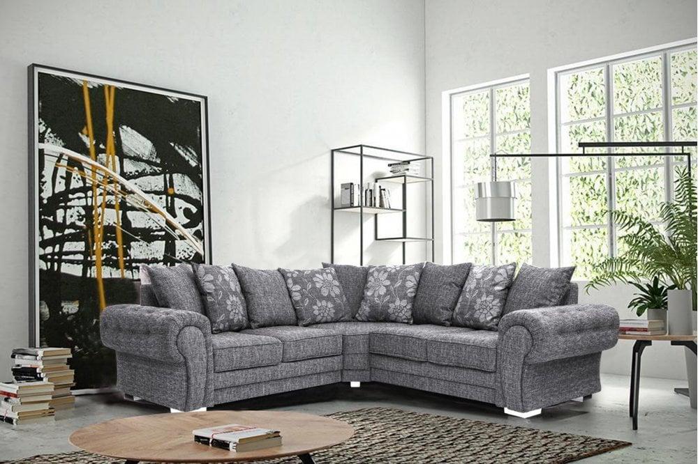 Malmo Grey Fabric Corner Sofa | FurnitureInstore