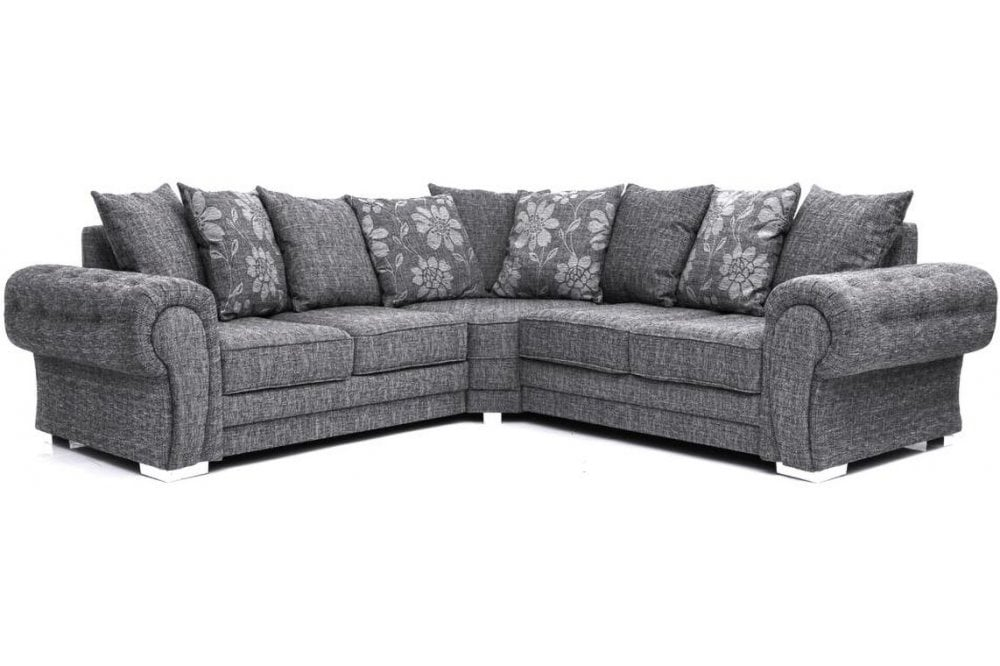 Malmo Grey Fabric Corner Sofa Furnitureinstore