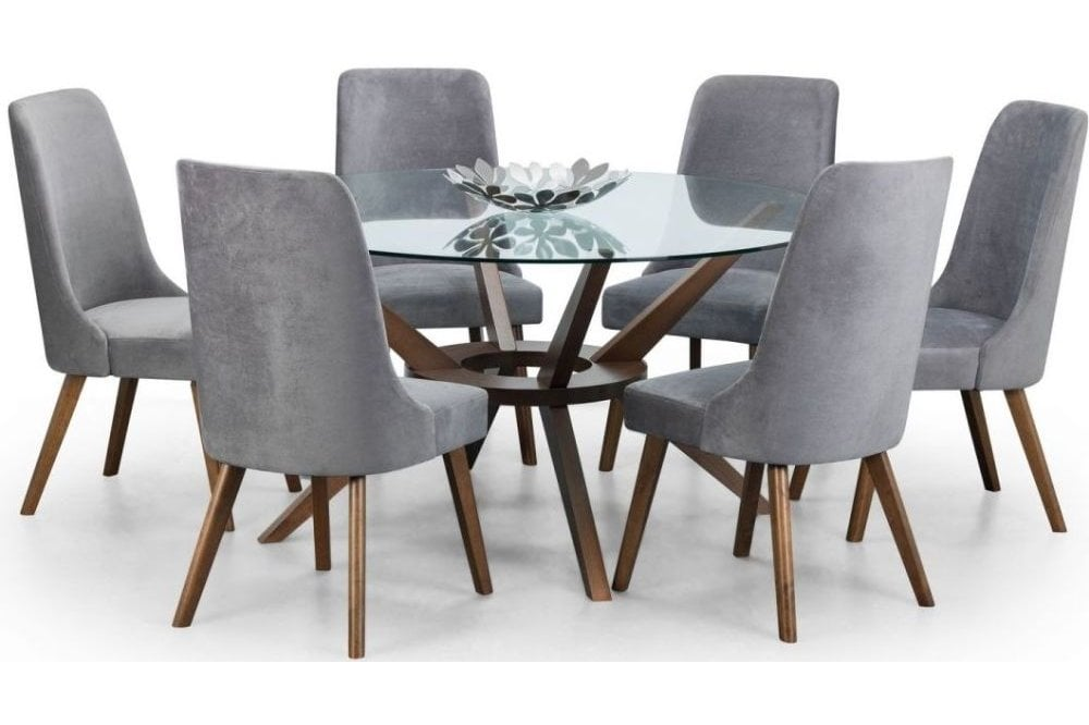 Glass Dining Table For 6 Off 53, Sarah Extending Glass Dining Table With 6 Romeo Chairs