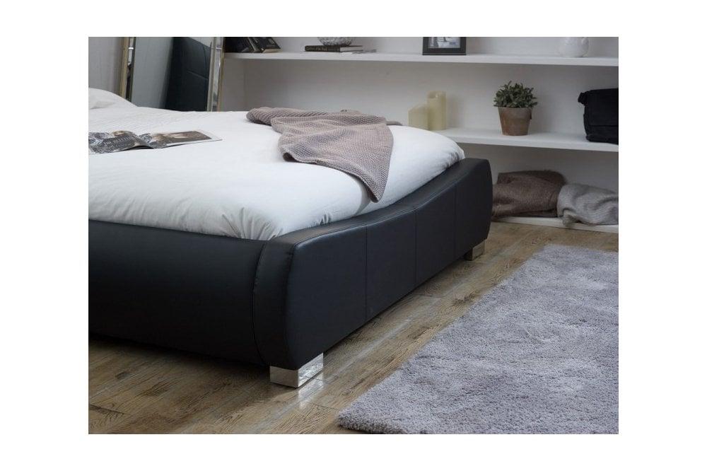 Limelight Dorado 6ft Super Kingsize, Ireland Queen Faux Leather Bed Black